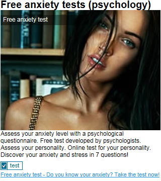Free Anxiety Tests
